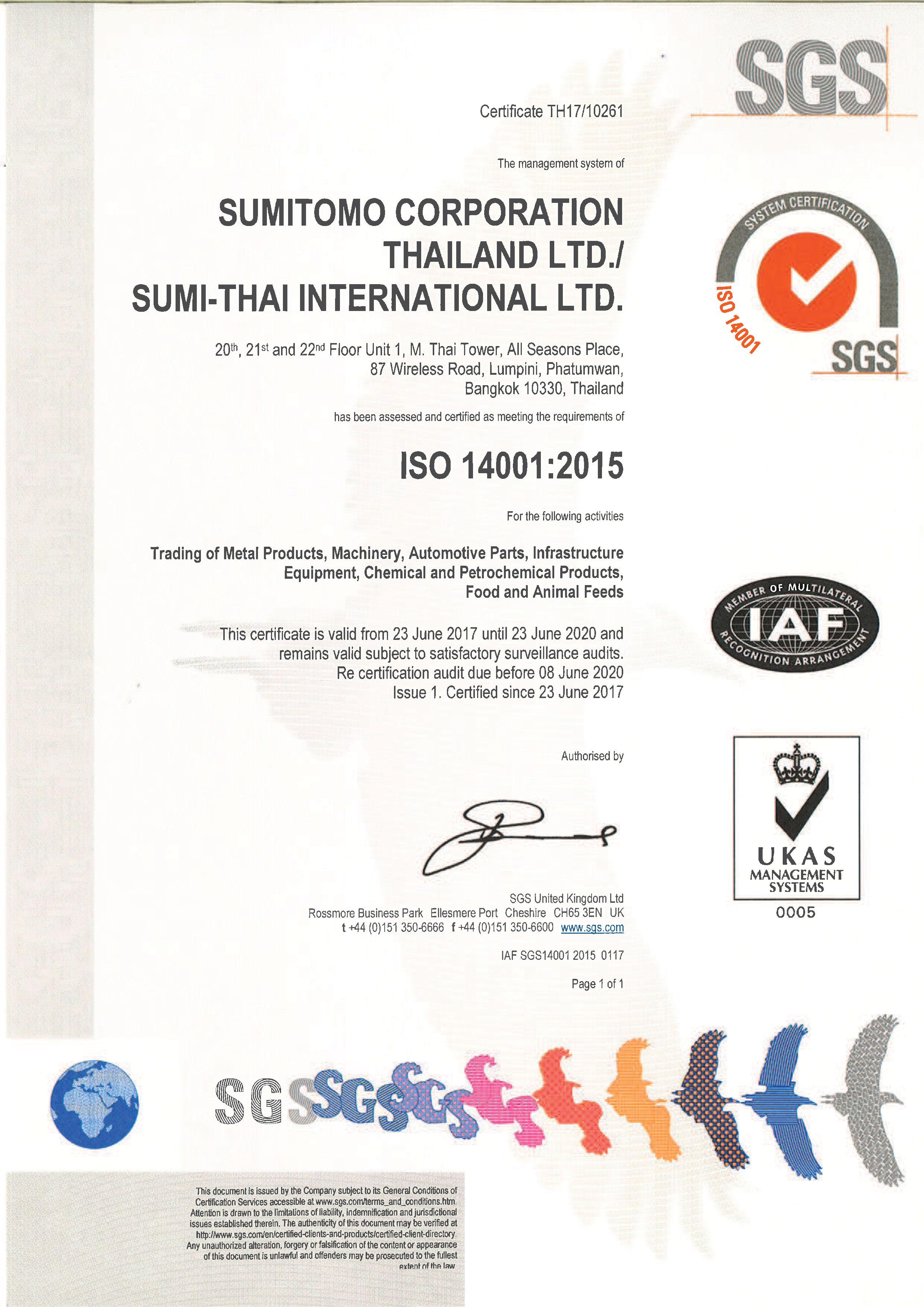 ISO 14001 - Environmental Management System | Sumitomo